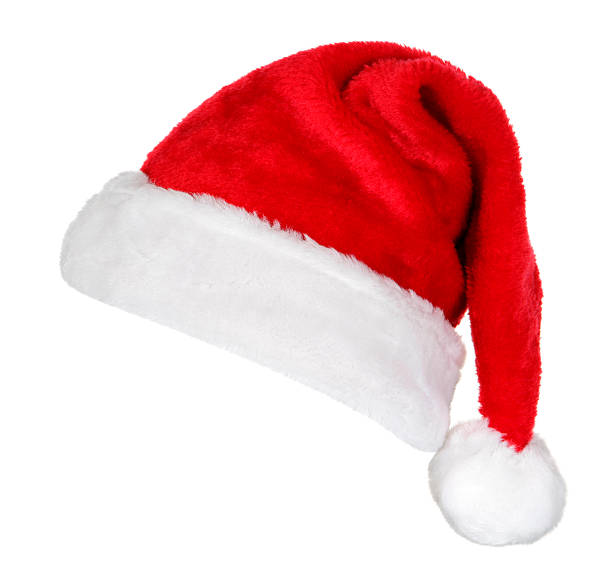 santa hat (on white) - santa hat stock pictures, royalty-free photos & images