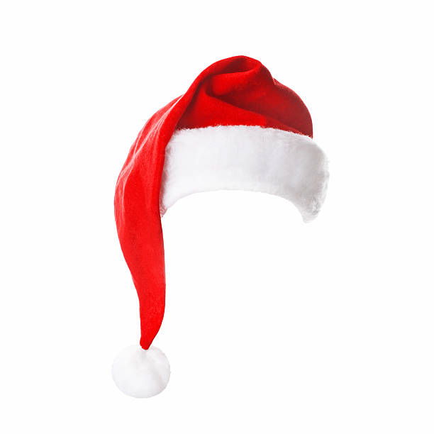 Santa Hat Santa Hat isolated on white background santa hat stock pictures, royalty-free photos & images