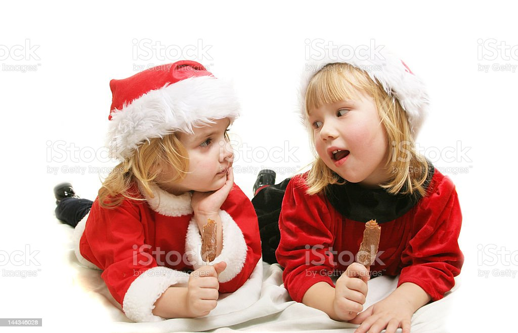 Santa helpers royalty-free stock photo