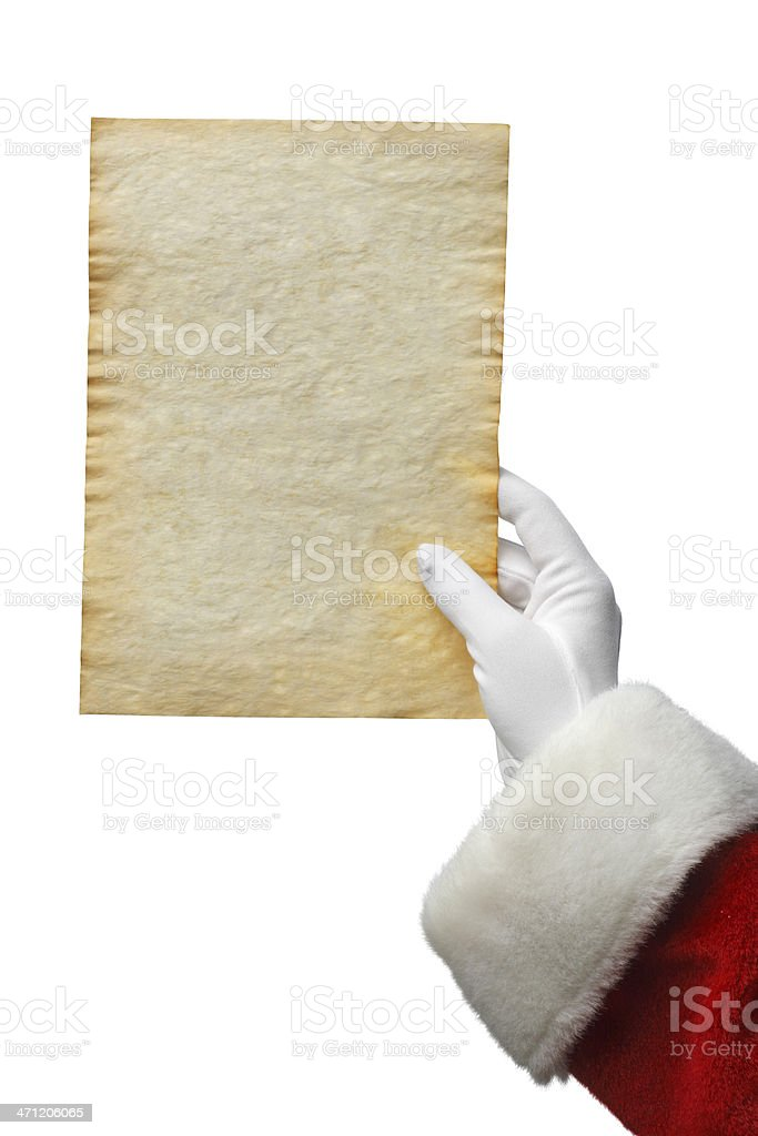 Santa Holding A List stock photo