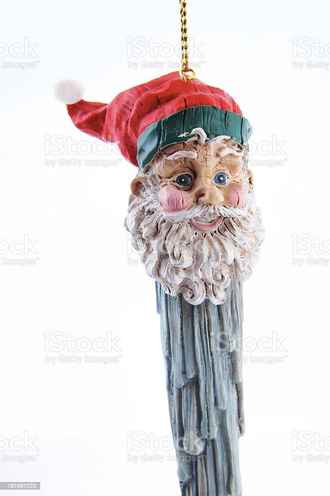 santa icicle ornament stock photo
