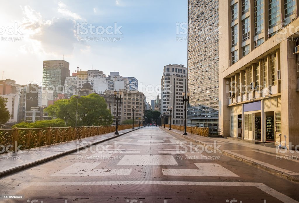 Santa Ifigenia Viaduct - Sao Paulo, Brazil stock photo