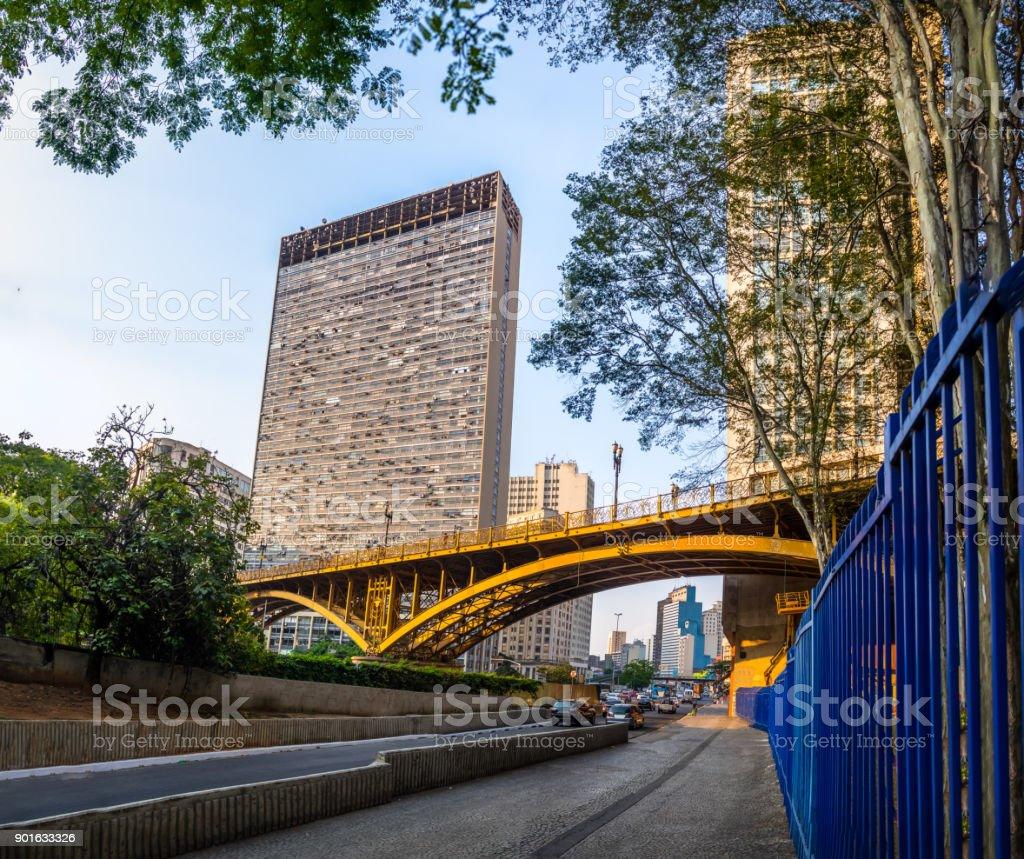 Santa Ifigenia Viaduct - Sao Paulo, Brazil stock photo