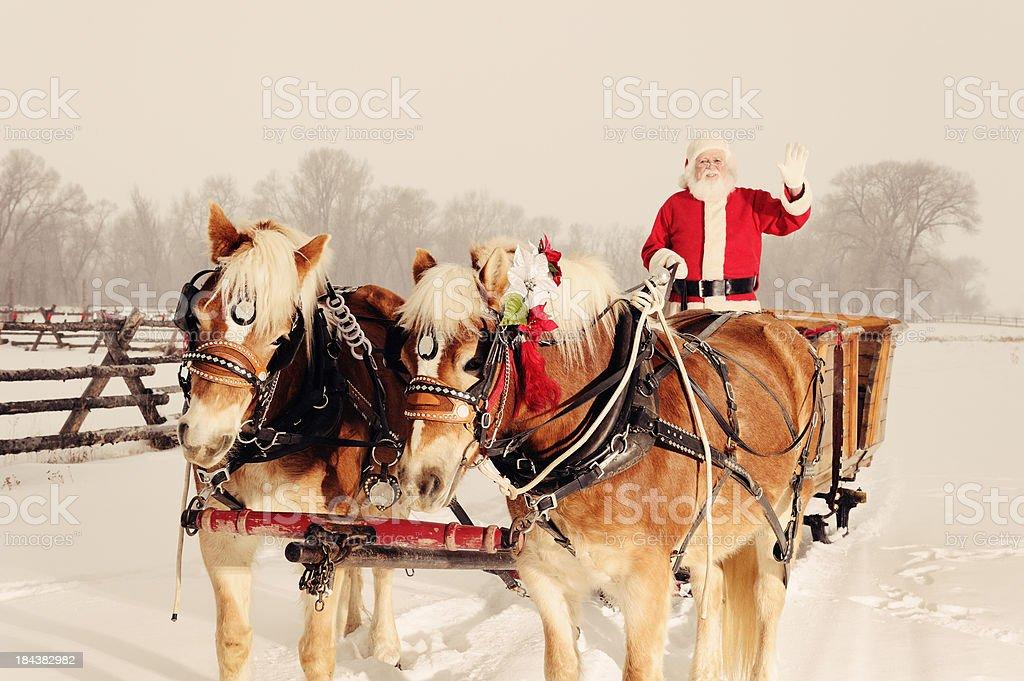 Santa In A Winter Wonderland royalty-free stock photo