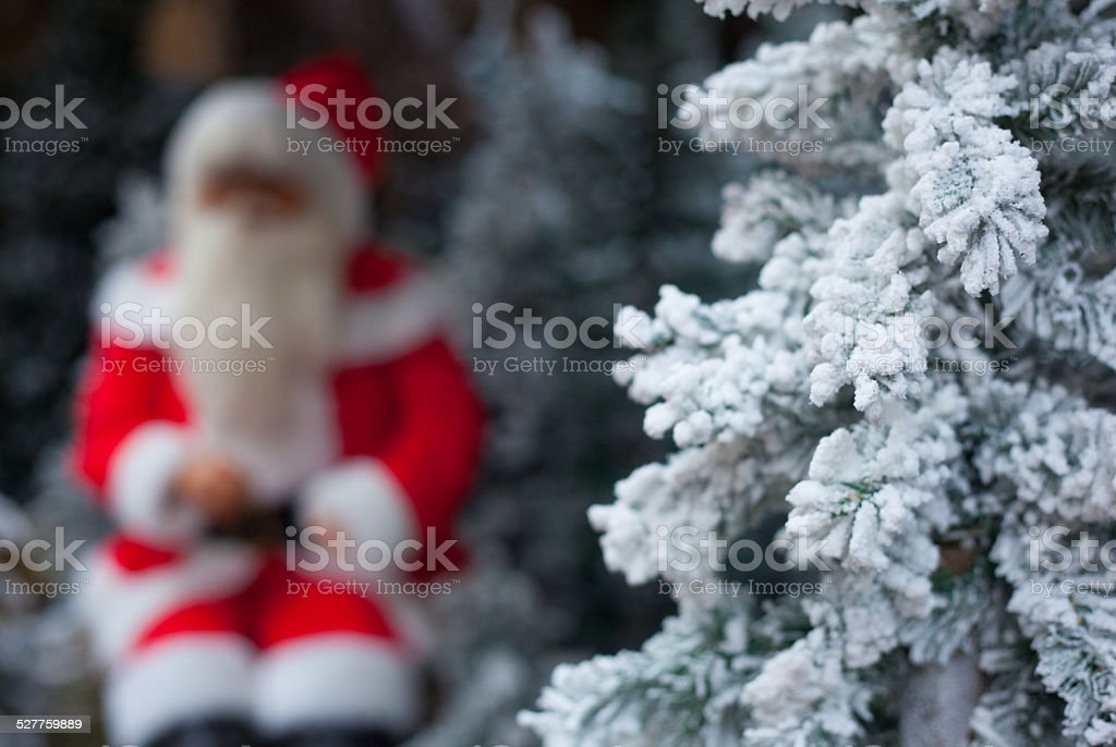 Santa in the mood of christmas stock photo