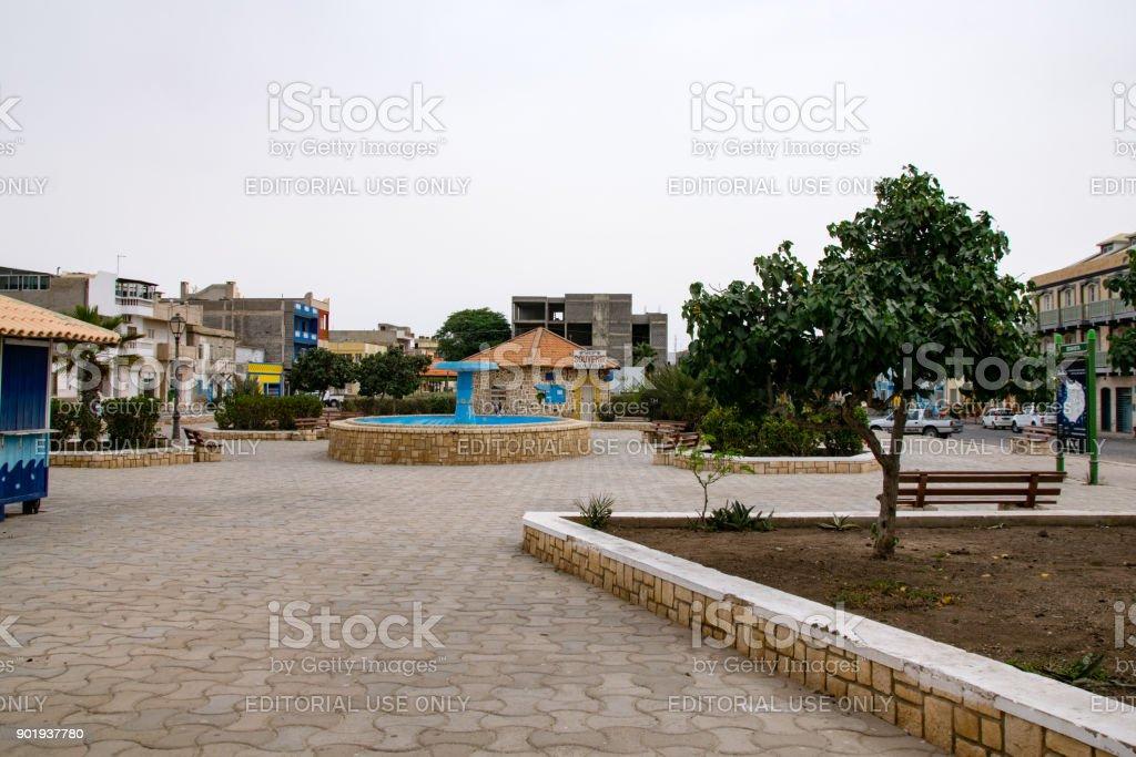 Santa Isabel Square stock photo