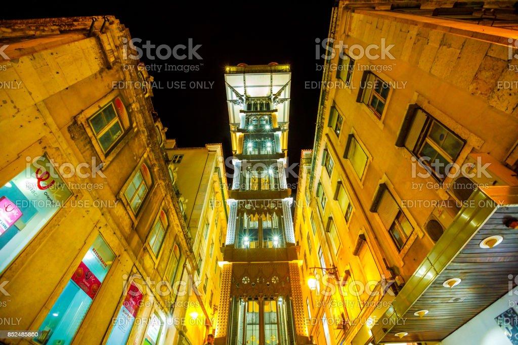 Santa Justa Elevator stock photo