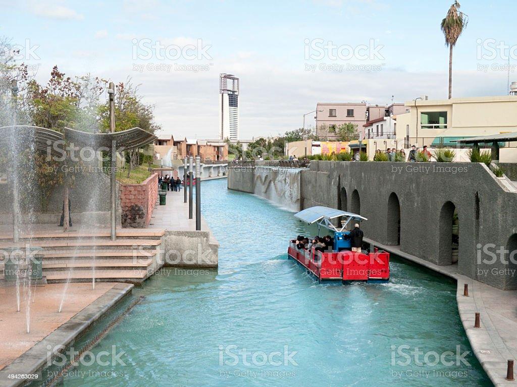 Santa Lucía Riverwalk, Monterrey stock photo