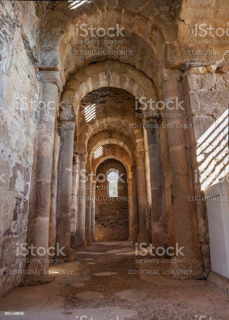 Santa Lucia del Trampal. Transept view stock photo