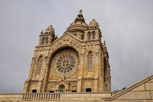 Santa Luzia's sanctuary located at the top of the hill in Viana do Castelo, Portugal