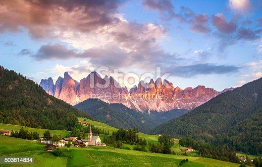istock Santa Maddalena, Dolomites, Italy 503814834