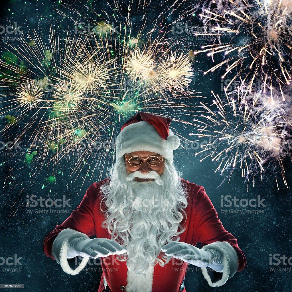 Santa - magic royalty-free stock photo