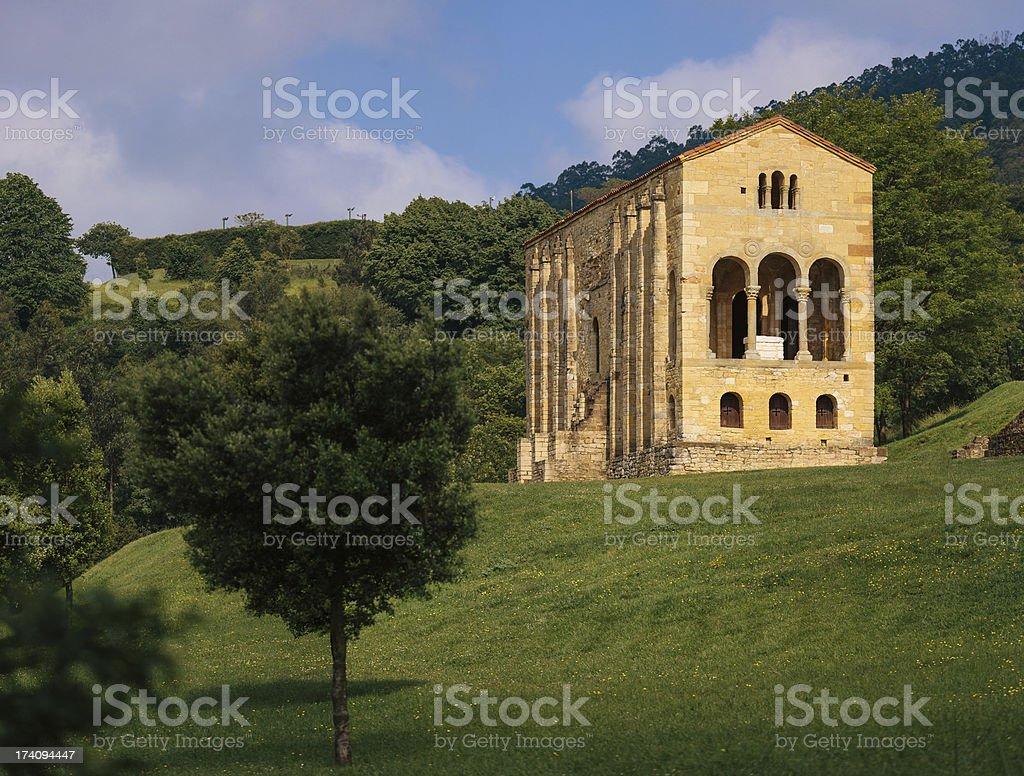 Santa María del Naranco church royalty-free stock photo