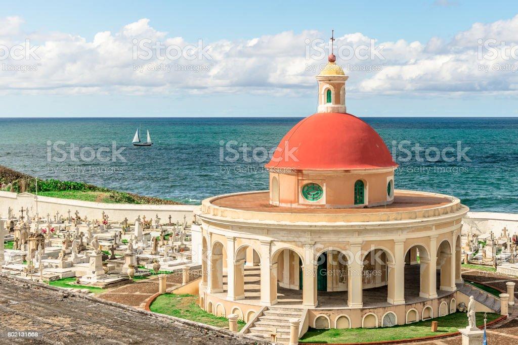 Santa María Magdalena de Pazzis Cemetery Overlooking Atlantic Ocean stock photo