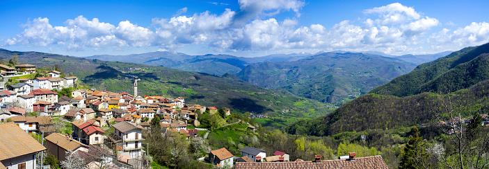 Santa Margherita di Staffora, Oltrepo valley. Color image