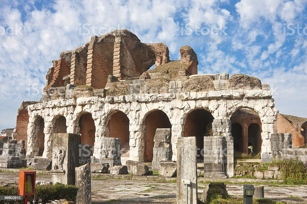 Santa Maria Capua Vetere Amphitheater royalty-free stock photo