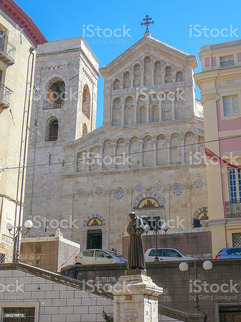 Santa Maria cathedral in Cagliari stock photo