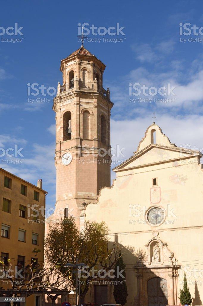 Santa Maria chuch in Falset, El Priorat ,Tarragona province, Catalonia, Spain stock photo
