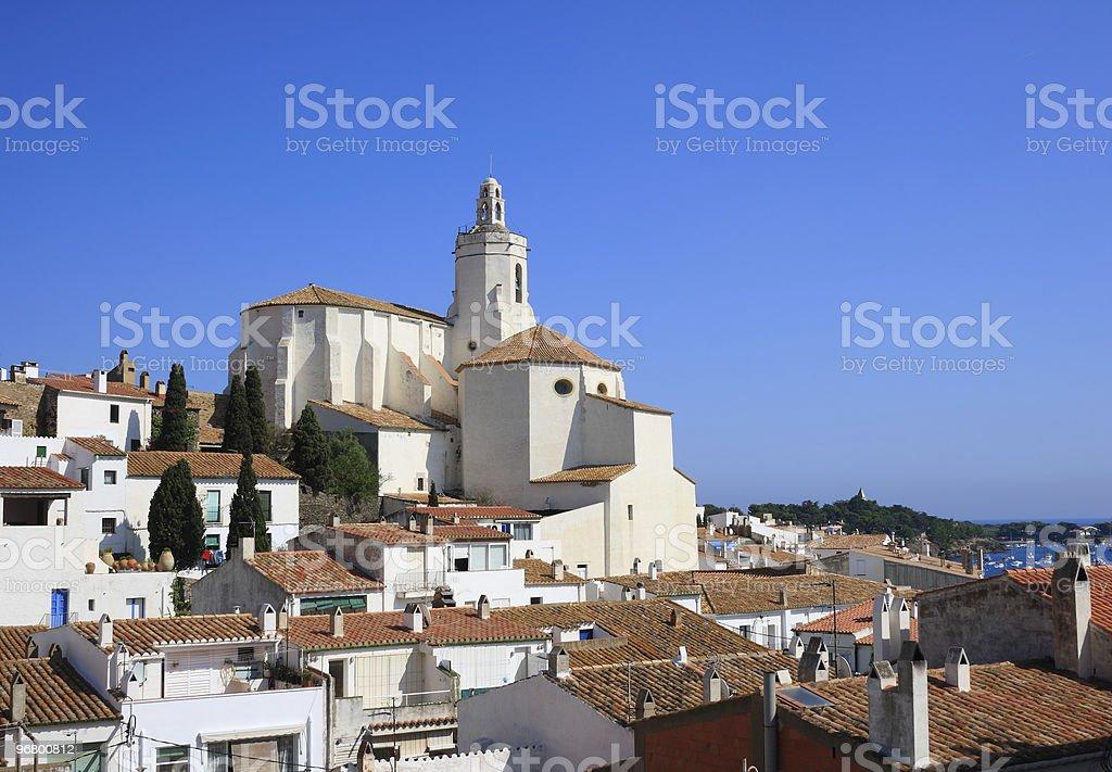 Santa Maria church (Cadaques, Costa Brava, Spain) royalty-free stock photo