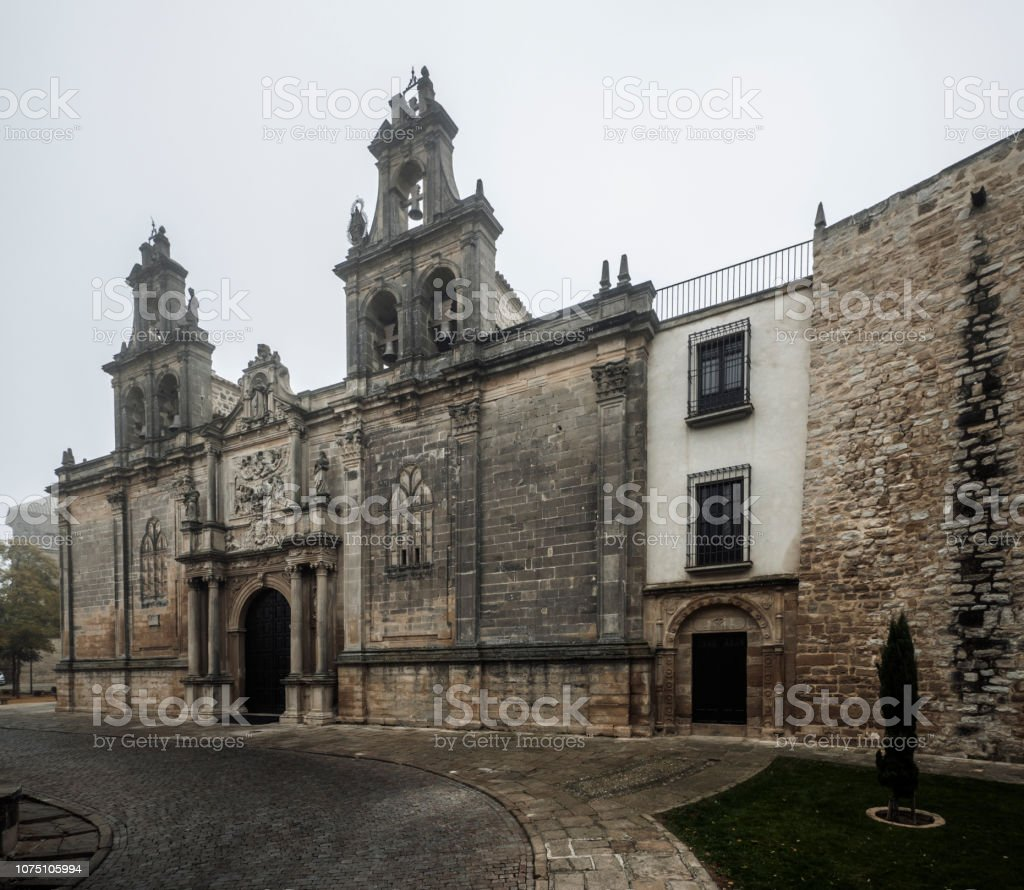 Santa Mari­a collegiate church in Ubeda Andalusia Spain stock photo