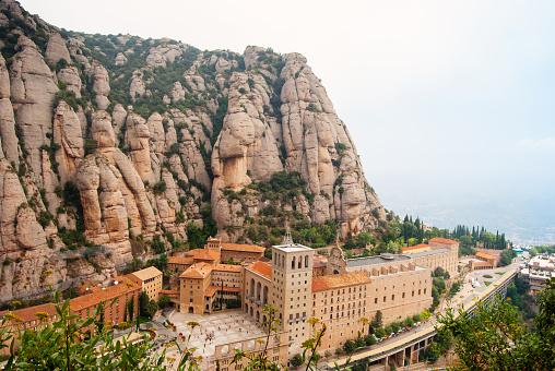 Santa Maria de Montserrat Abbey in Monistrol de Montserrat,