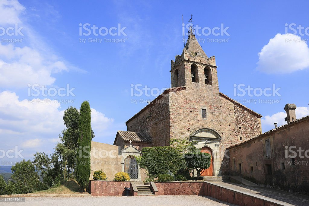 Santa Maria de Sau romanic church (Catalonia, Spain) royalty-free stock photo