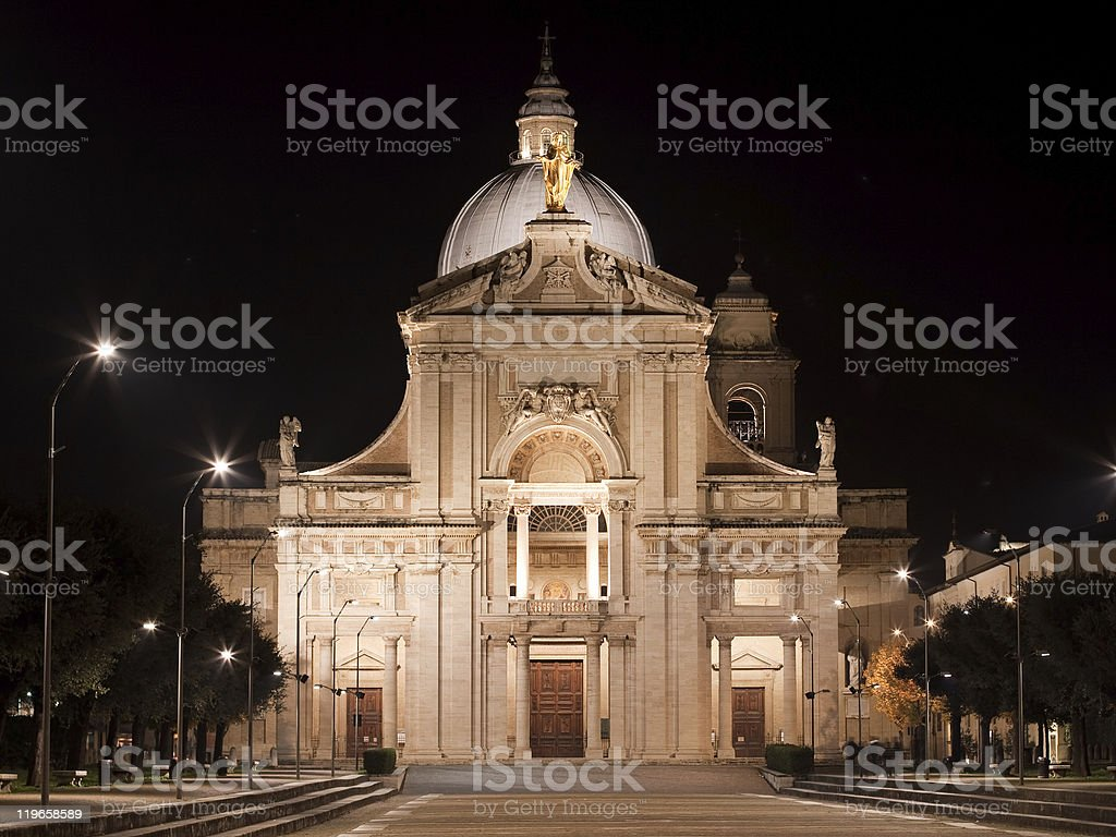 Basilica di Santa Maria degli Angeli stock photo
