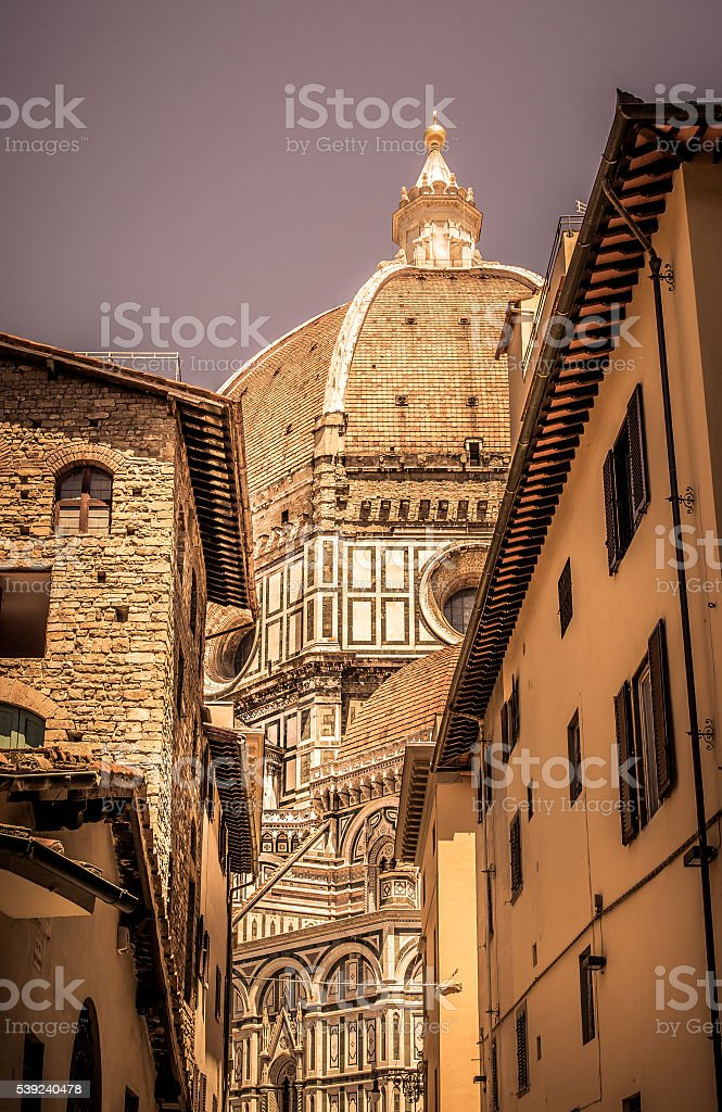 Santa Maria del Fiore cathedral, Florence royalty-free stock photo