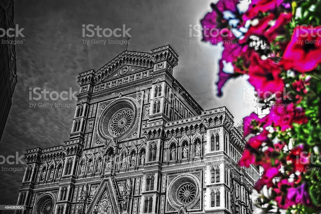 Santa Maria del Fiore cathedral in Florence stock photo