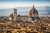 Florence Cityscape and Duomo Santa Maria Del Fiore. Firenze, Italy