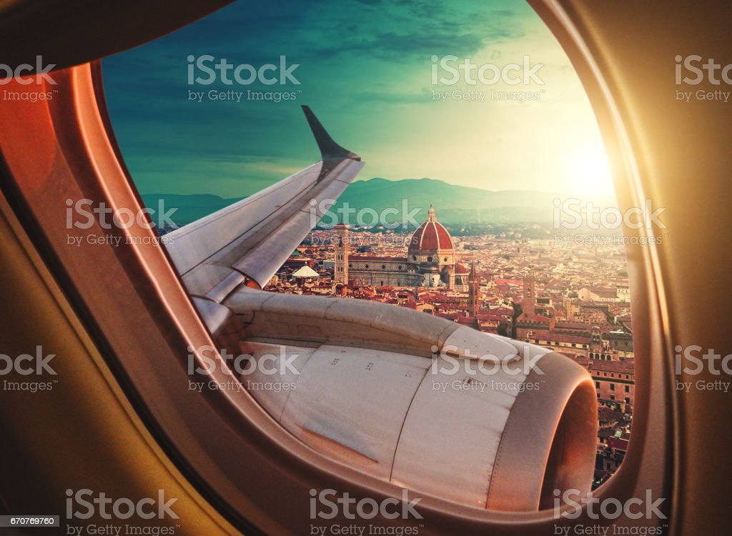 Santa maria del fiore skyline from the porthole stock photo