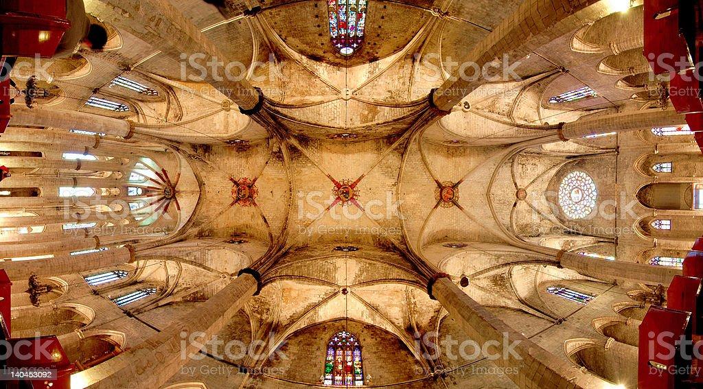 Santa Maria del Mar (Barcelona): Catalan gothic church royalty-free stock photo