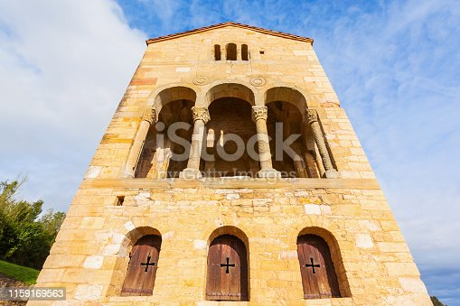 Church of St Mary at Mount Naranco or Iglesia de Santa Maria del Naranco is a Roman Catholic Asturian architecture church in Oviedo, northern Spain