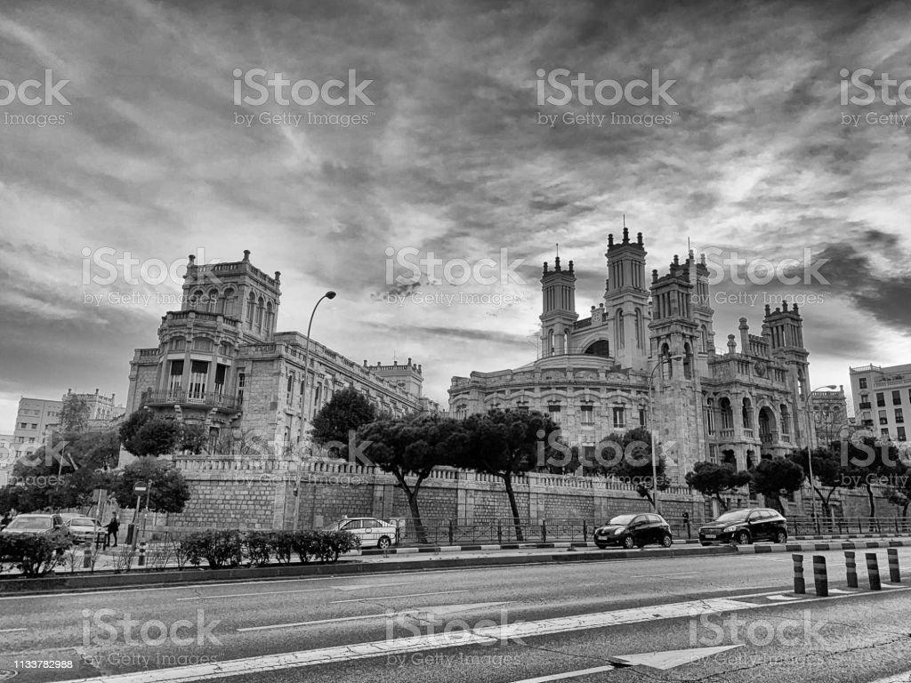 Santa Maria del Silencio parish, Madrid stock photo