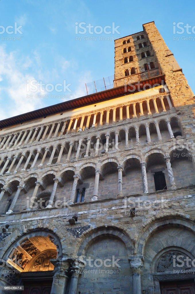 Santa Maria della Pieve, Arezzo zbiór zdjęć royalty-free