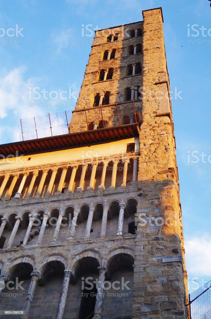 Santa Maria della Pieve, Arezzo royalty-free stock photo