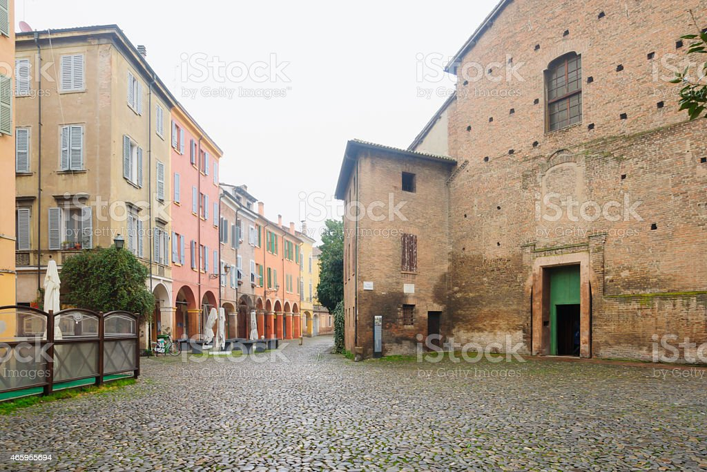 Santa Maria della Pomposa church, Modena stock photo