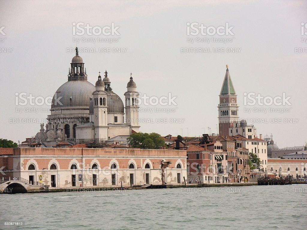 Basilica di Santa Maria della Salute dalla Giudecca stock photo