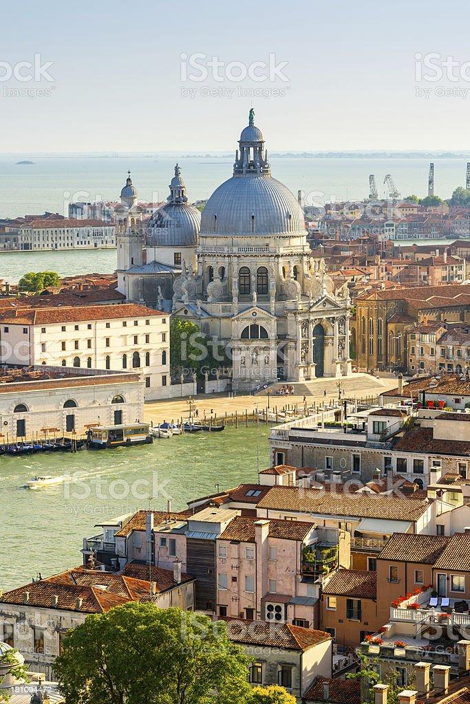 Santa Maria Della Salute, Grand Canal, Venice, Italy royalty-free stock photo