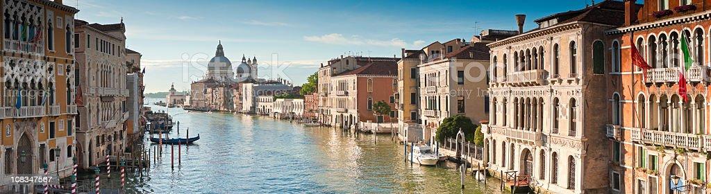 Santa Maria Della Salute, Grand Canal, Venice stock photo