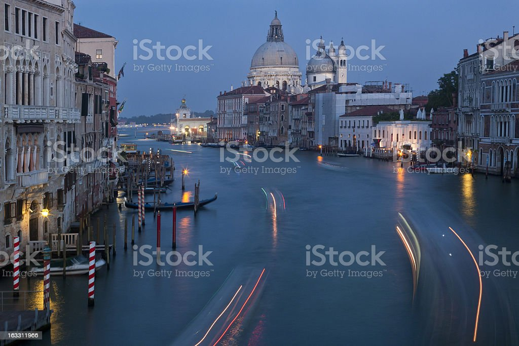 Santa Maria della Salute on Grand Canal,Venice, Italy royalty-free stock photo