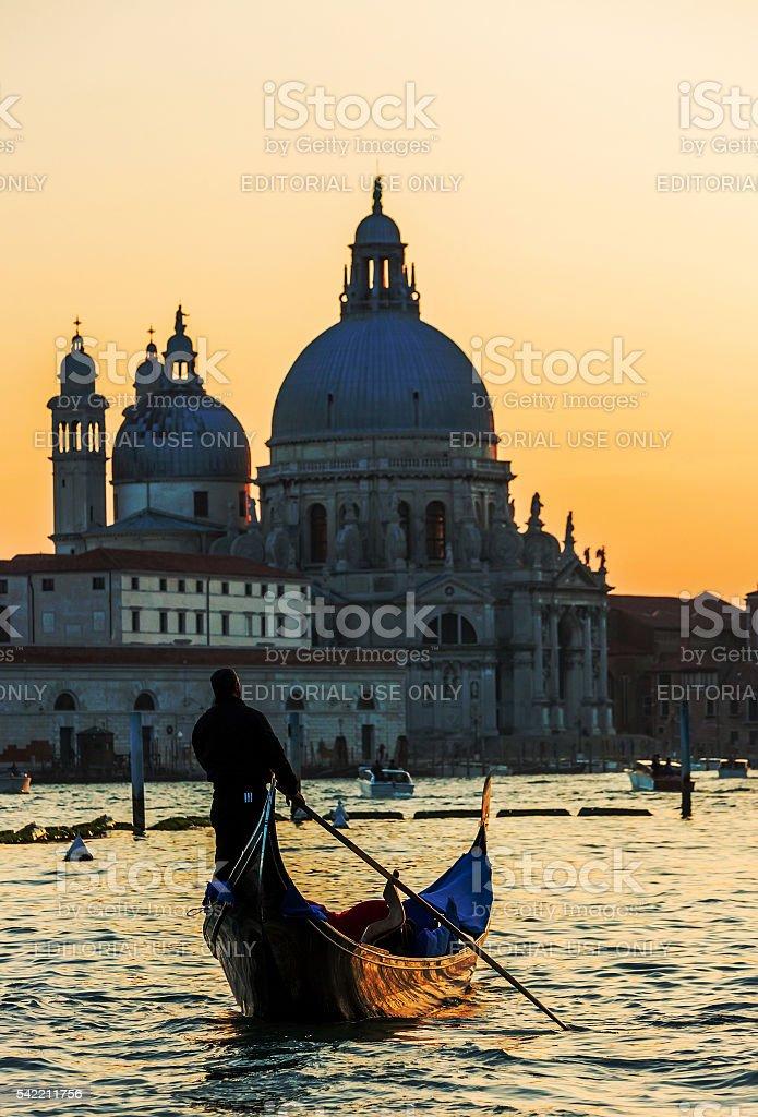 Basilica di Santa Maria della Salute Sunset stock photo