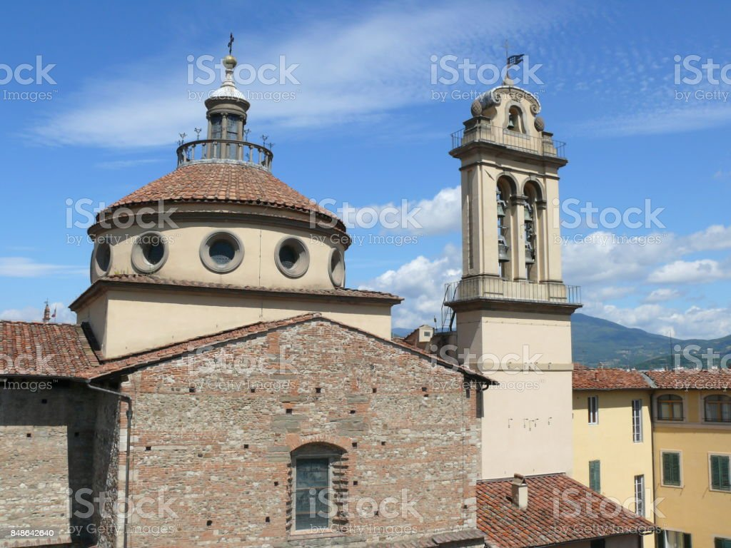Santa Maria delle Carceri church in Prato stock photo