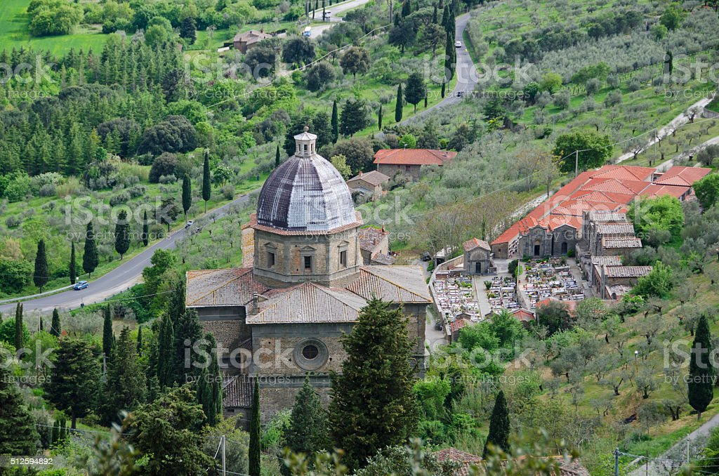 Santa Maria delle Grazie al Calcinaio Church stock photo