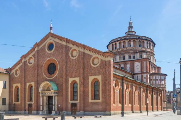 Santa Maria delle Grazie, Italy stock photo
