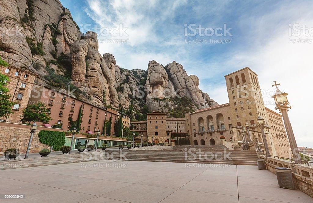 Santa Maria der Montserrat Monastery Catalonia stock photo