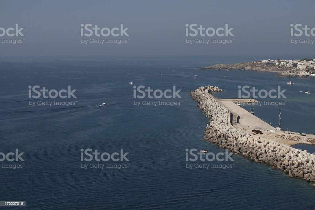 Santa Maria di Leuca's Port - Mediterranean Sea, Puglia, Italy stock photo