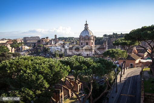 istock Santa Maria di Loreto and Most Holy Name of Mary in Rome, Italy 696741438