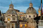 istock Santa Maria di Loreto  and The Church of the Most Holy Name of Mary at the Trajan Forum 689432272