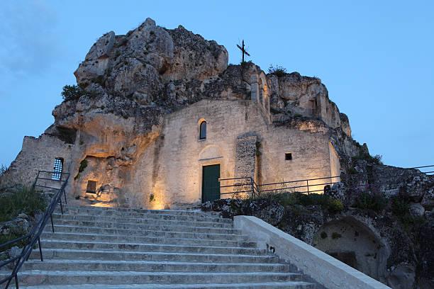 Santa Maria d´Idris Rock Church, Matera. Basilicata Italy  tuff stock pictures, royalty-free photos & images